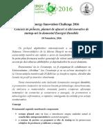 BSUN Energy Innovation Challenge 2016