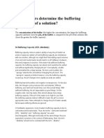 What Factors Determine the Buffering Capacity of a Solution