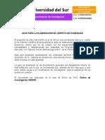 Guía de Instrumento Didáctico Carpeta de Evidencias