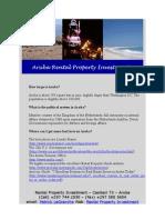 aruba rental property investment FAQ