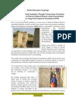 Sangat Sindh Report on Community Led Total Sanitation Latrines
