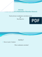 Trends and Issues in Mathematics Curriculum Research