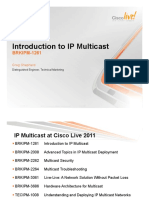 Introduction to IP Multicast (2011 Las Vegas)