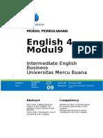 Modul 9 English 4 2016-2017