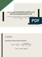 Alat Ukur Intensitas Cahaya (Lux Meter) Menggunakan LDR