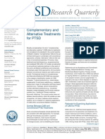 Complementary and Alternative Treatment for PTSD