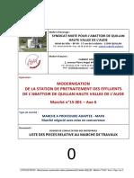 0 LISTE DES PIECES Modernisation station prétraitement abattoir Quillan Marché n°15 001  axe 6.pdf