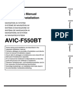 Avic-f550bt Installation Manual Nl en Fr de It Es