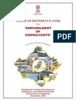 Final TOR for Empanelment of Consultants