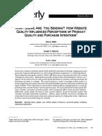 Wesite Quality as a Signal