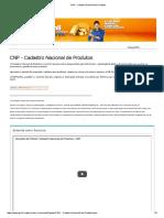 CNP - Cadastro Nacional de Produtos