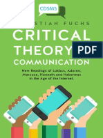 Fuchs(2016)-Critical Theory of Communication