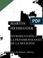 Heidegger_ Martin - Introduccion a La Fenomenologia de La Religion