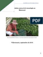 Generalidades Acerca de La Tecnología en Maracuyá