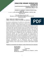 Modelo de Demanda de Amparo Contra Resolución Judicial - Como Interponer Un Amparo Contra Una Casación - José María Pacori Cari