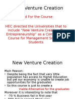 New Venture Creation Lecture 2-4