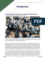 Villasmil Bond, Ricardo; La Estrategia Del Conflicto en Venezuela