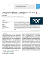 Analysis of Contact Problems in Solid Oxide Fuel Cell Stacks Arising from Differences in Thermal Expansion Coefficients