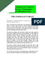 Hermes Trismegistos Smaragdne Tablice Razni Prijevodi