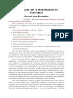 Techniques de La Dissertation en Économie