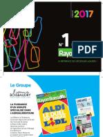 Plaquette de Publicité Rayon Boissons 2017