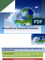 Evoluçao da populaçao mundial