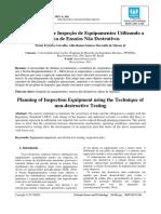 Planejamento de Inspeção de Equipamentos Utilizando a Técnica de Ensaios Não Destrutivos