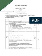 SESIÓN de APRENDIZAJE Educación Por El Trabajo Accidentes Laborales[1]
