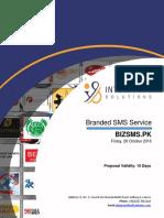 Proposal BizSMS.pk