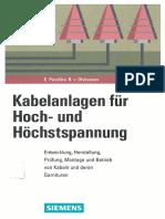 Kabelanlagen Der Hoch- Und Höchstspannung - Peschke, Olshausen - 1997