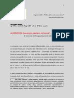 LA CORRUPCIÓN. Degeneración Ideológico-Institucional  Mtro. Marcelino Núñez Trejo