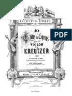 Kreutzer 40 Studies Second Violin Acompaniment