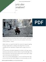 Has War in Syria Also Destroyed Journalism