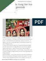 Nobel Laureate Aung San Suu Kyi Oversees Genocide