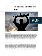Masculinity in Crisis and the Rise of Extremism