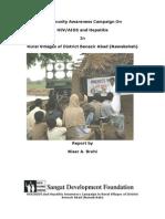 Sangat Sindh Report on HIVAIDS and Hepatitis Awareness Campiagn