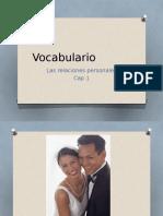 Vocabulario Cap 1