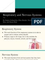respiratory and nervous systems