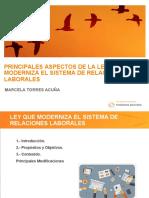 Taller Ley Que Moderniza Le Sistema de Relaciones Laborales