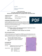 ANALYSIS AND DECISION OF THE DIRECTOR OF THE SEATTLE DEPARTMENT OF CONSTRUCTION AND INSPECTIONS