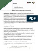 13-11-16 Establece Gobernadora Pavlovich más acciones contra feminicidios. C-111653