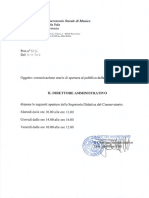 Comunicazione Orario Chiusura s Didattica