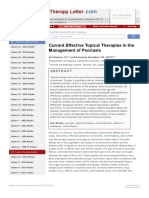 Current Effective Topical Therapies in the Management of Psoriasis