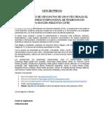 Congreso Intermnacional Citie Difusion Nota de Prensa-citie Oct-2016
