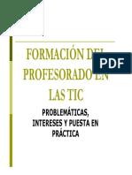La formación del profesorado en TIC