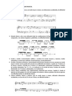 Lenguaje Musical - Audioperceptiva - Modelo de Examen de Ingreso