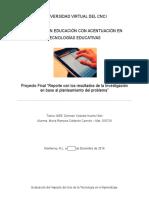 Resultados de La Investigacion en Base a Un Planteamiento de Problema Educativo
