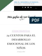 24 CUENTOS PARA EL DESARROLLO EMOCIONAL DE LOS NIÑOS - Mis gafas de ver la vida
