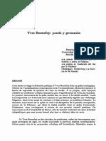 Yves Bonnefoy - Poesia y Presencia