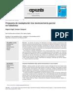 Propuesta de Readaptaci n Tras Meniscectom a Parcial en Futbolistas 2012 Apunts Medicina de l Esport